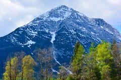 Blauwe piek van de Alpen royalty-vrije stock afbeeldingen