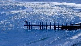 Blauwe Pier Stock Foto