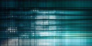 Blauwe Pijl met de slogan van de Gegevensintegratie op een grijze achtergrond royalty-vrije illustratie