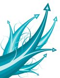Blauwe pijlen royalty-vrije illustratie