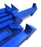 Blauwe pijlen Royalty-vrije Stock Afbeeldingen