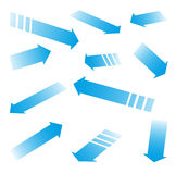 Blauwe pijlen Stock Foto