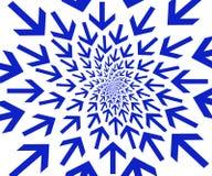 Blauwe pijlen. Royalty-vrije Stock Fotografie