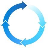 Blauwe Pijlen Stock Foto's