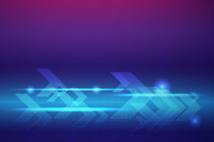 Blauwe pijlen abstracte vectorachtergrond Royalty-vrije Stock Afbeelding