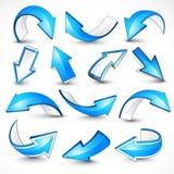 Blauwe pijlen. Vector illustratie Royalty-vrije Stock Foto's