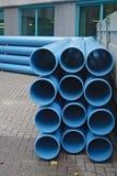 Blauwe pijpen stock fotografie