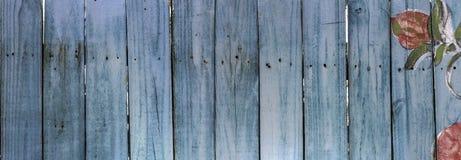Blauwe piketomheining Royalty-vrije Stock Foto's