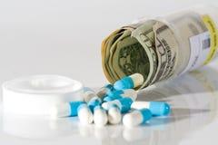 Blauwe Pillen Royalty-vrije Stock Afbeelding