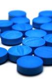 Blauwe pillen Royalty-vrije Stock Foto's