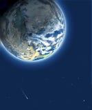 Blauwe planeet stock illustratie