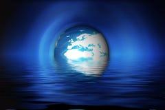 Blauwe Planeet Stock Foto
