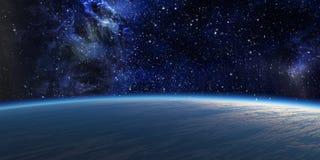 Blauwe planeet. vector illustratie
