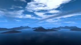 Blauwe planeet Stock Afbeelding