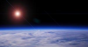 Blauwe Planeet en Rode Ster royalty-vrije illustratie