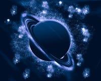 Blauwe planeet - fantasieruimte Royalty-vrije Stock Foto's