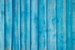 Blauwe plankmuur Royalty-vrije Stock Afbeeldingen