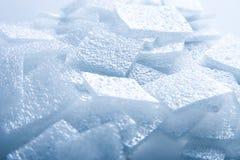 Blauwe plastic abstracte zachte achtergrond royalty-vrije stock fotografie