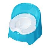 Blauwe plastic children& x27; s pot Royalty-vrije Stock Afbeelding