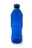 Blauwe plastic fles Stock Afbeelding
