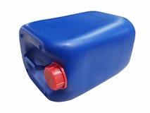 Blauwe plastic gallon Royalty-vrije Stock Afbeeldingen