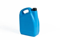 Blauwe Plastic Jerrycan Royalty-vrije Stock Foto