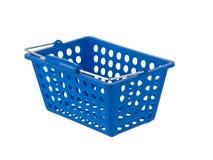 Blauwe plastic mand Stock Afbeelding