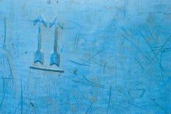 Blauwe plastic oude oppervlakte Stock Fotografie