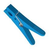 Blauwe plastic wasknijper Royalty-vrije Stock Foto's