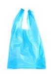 Blauwe plastic zakken Stock Fotografie