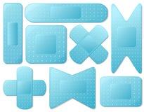 Blauwe pleister stock illustratie
