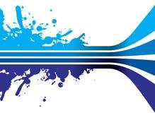 Blauwe plonsachtergrond Royalty-vrije Stock Afbeeldingen