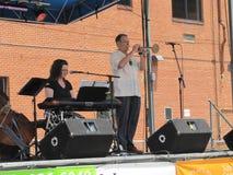 Blauwe Plum Festival - Muzikale Prestaties Royalty-vrije Stock Afbeeldingen