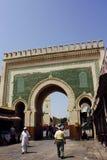 Blauwe Poort in Fez, Marokko Stock Afbeeldingen