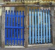 Blauwe Poorten in Marano Lagunare Royalty-vrije Stock Foto's