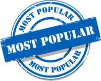 Blauwe populairste markeringszegel Stock Foto's