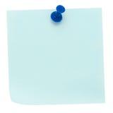 Blauwe post-itnota Stock Afbeelding