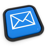 Blauwe postknoop. Royalty-vrije Stock Foto
