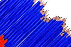 Blauwe potloden Stock Afbeelding