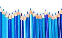 Blauwe potloden Royalty-vrije Stock Foto's