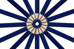 Blauwe potloden   Royalty-vrije Stock Afbeeldingen