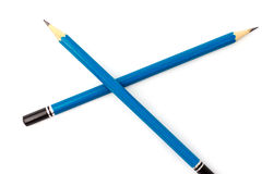 Blauwe potloden Royalty-vrije Stock Afbeelding