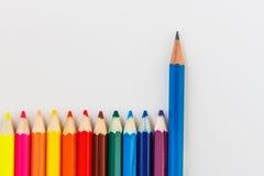 Blauwe potloden Stock Afbeeldingen