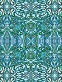 Blauwe psychedelische achtergrond Stock Afbeeldingen