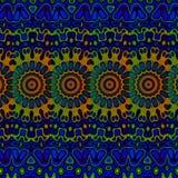 Blauwe psychedelische patroonachtergrond Koele Arabische arts. royalty-vrije illustratie