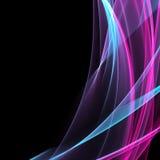 Blauwe purpere lijnen stock illustratie