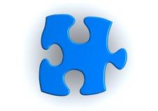 Blauwe raadselstukken vector illustratie