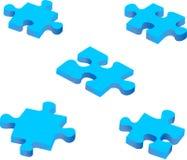 Blauwe raadselstukken Royalty-vrije Stock Afbeelding