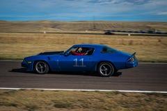 Blauwe Raceauto Stock Foto's