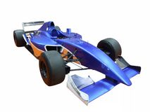 Blauwe raceauto Stock Fotografie